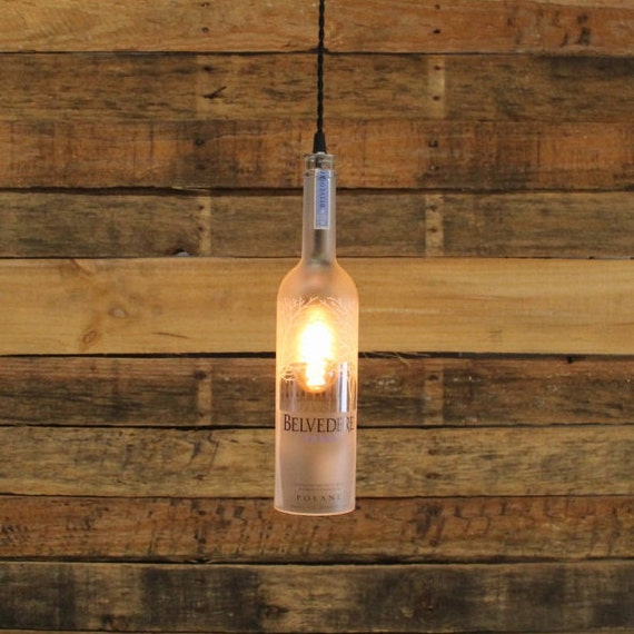 Belvedere Vodka Pendant Light - Industrial Ceiling Light Fixture, Handmade Hanging Lamp, Bar Lighting, Restaurant Lighting, Kitchen Lighting