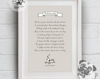 Dog Lover Gift | Dog Print | Dog Lover | Dog Wall Art | Dog Poster | Dog Wall Deco | Wall Art | Wall Decor | Valentine Gifts