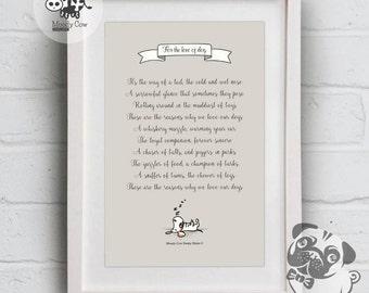 Dog Lover Gift | Dog Print | Dog Lover | Dog Wall Art | Dog Poster | Dog Wall Deco | Wall Art | Wall Decor | Mothers Day Gift | Gift for Mum