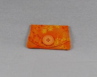 Orange Yellow Card Holder