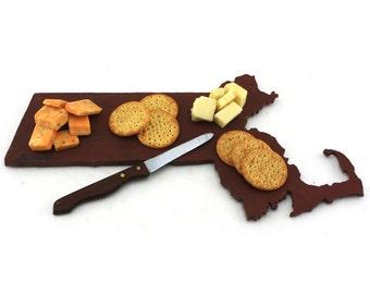 Massachusetts Slate Cheese Board, Serving Tray, or Cutting Board