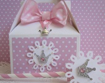 Princess Favor Boxes, Favor Boxes, Girl Birthday Favor Boxes, Princess Straws, Princess Necklaces, Princess Party Favors, Princess Treat Bag