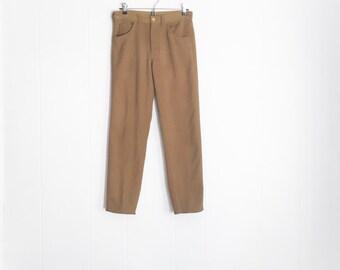 Vintage Lee Pants - High Waisted Pants - 70s Pants - Mens Pants - Olive Brown Camel Pants - 1970s Clothing - Brown Pants - Hipster Clothing