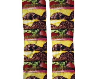 Burger Funny Food Socks Unique Birthday Gift