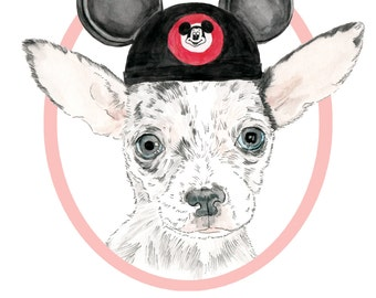 SALE-20% OFF. Custom Pet Portrait+Accesories-DIGITAL- Personalized Dog Illustration-Gift-Pet Portrait-Printable Art-Dog-Pet Illustration