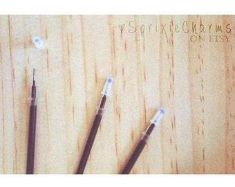 Ultra Fine Point Pen Gel Ink Refills / Black Gel Ink Refills for 0.38mm Pens / 0.38mm Gel Ink Pen Refill / Gel Pen Ink Refill / Needle Tip