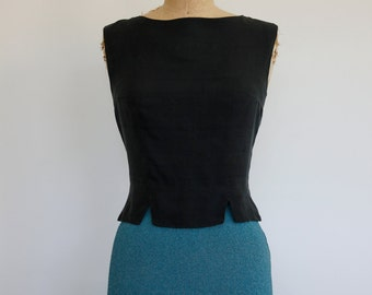 Vintage Raw Silk I. Magnin Top
