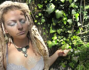Amazonita Prinzess Galaktik Shamanic Necklace