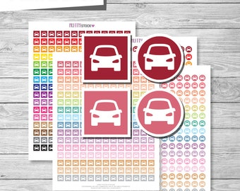 Car Stickers, Printable Car Stickers, Car Planner Stickers, Travel Planner Stickers, Vacation Stickers - PS48