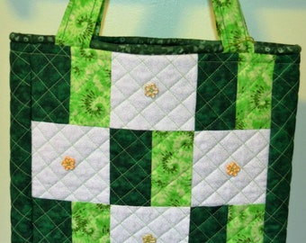 Green Patch Purse Tote