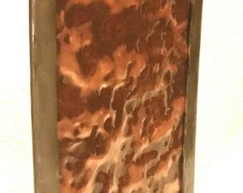 metal art,aged copper,garden art,hammered copper, metal sculpture,indoor sculpture, tabletop sculpture, under 100, mantle art,
