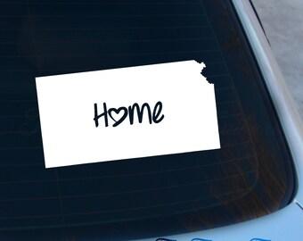 Kansas Decal - State Decal - Home Decal - KS Sticker - Love - Laptop - Macbook - Car Decal