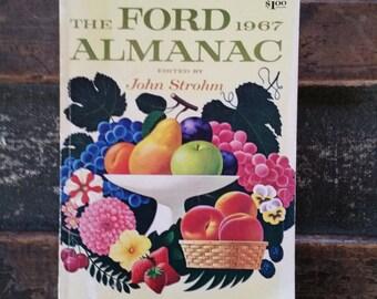 Ford Almanac 1967, vintage almanac for Farm, Ranch and Home
