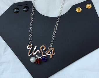 USA Necklace (Inspired by the Rio Olympics)
