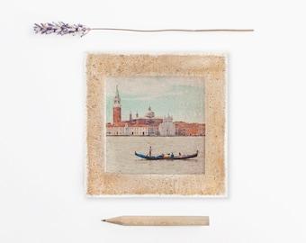 Venice, Venice print, Venice Italy, Venice gondolas, Gondola, Venezia, Italia, Venice photography, 4x4, Travel photography, Venice art print
