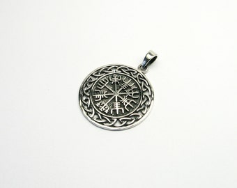 Vegvisir Viking compass Silver 925 jewellery charms magical compass Iceland way magic