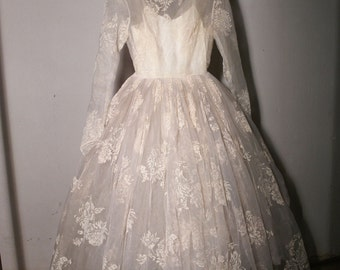 1950 Vintage Wedding Dress