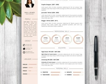 resume template with photo cover letter cv template us letter a4 - Cover Letter For Resume Template