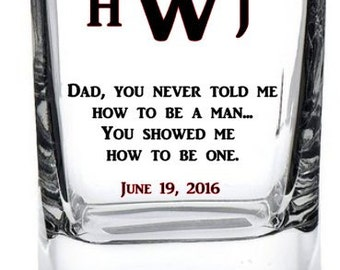 Father's Day Whiskey Glass