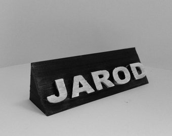Customized 3D printed name placard