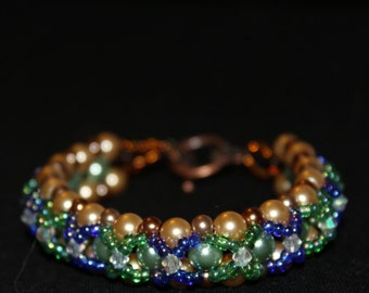 """Fairy tale right angle weave bracelet 7.8inches"""""""