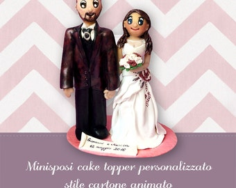 wedding cake funny figures caricatures topper etsy 22750