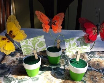 Butterfly Place Card Holders Name Card Holders - Set of 6