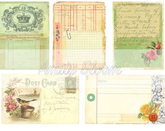 Vintage Journal Card Digital Printable