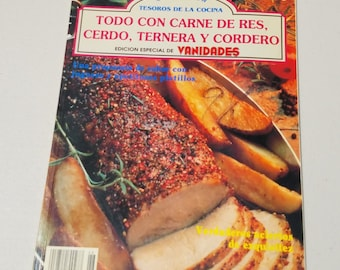 Todo con carne de res, cerdo, ternera y cordero ** all-Spanish language & recipes meat lovers cookbook