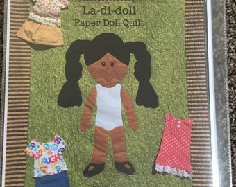 La Di Doll Quilt Pattern, Paper Doll Quilt Pattern, Paper Doll Blanket Pattern, Handmade Quilt Pattern, Quilt for Kids Pattern