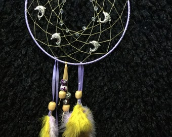 Gold and lilac dream catcher