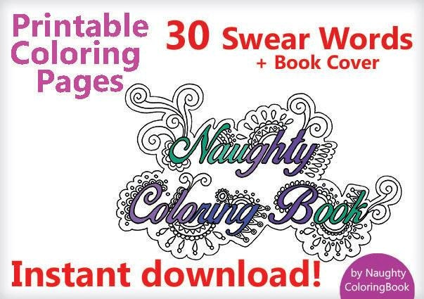 Adult Coloring Book Pages 30 Swear Words