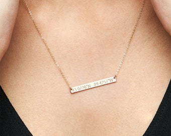 Location Necklace / Coordinates Necklace / Latitude Longitude Necklace / GPS Sterling Silver, 14kt Gold Fill, Rose Coordinates Jewelry H435
