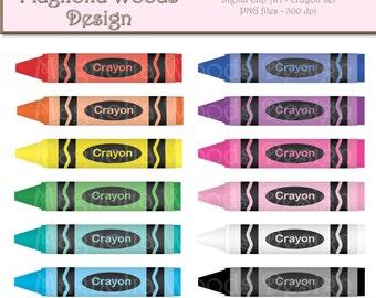 Crayon Clip Art, Crayon Digital Clip Art, Craft Clip Art, Crayon Images, Small Commercial Clip Art, Teacher Clip Art, School Clip Art