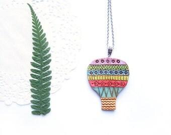 Gift for traveller gift for explorer Hot air balloon necklace for her gift for adventurer gift for girl Travel gift for women necklace gift