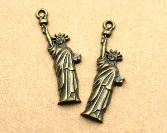 20pcs Statue Of Liberty Charms Antique Bronze Tone 15x49mm - BH271