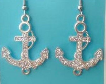 ANCHOR EARRINGS, Anchor Jewelry, Anchor Earring,Sailor Anchor Earrings,Nautical Earrings,Beach Earrings,Nautical Anchor jewelry,Anchor Charm