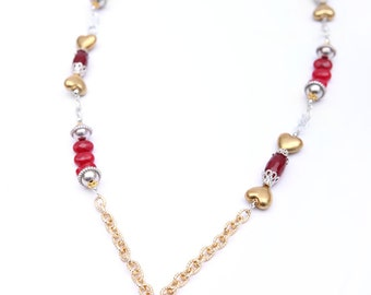 Always Beaded Cluster Necklace