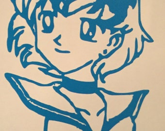 Sailor Moon: Sailor Mercury Decal
