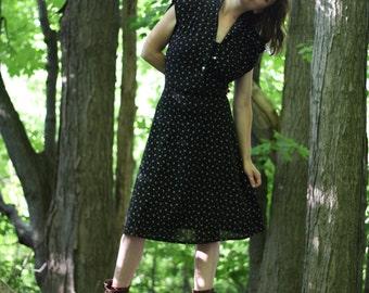Vintage 1980s goes 1950s rockabilly dress