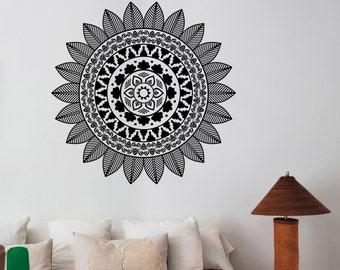 Mandala Aufkleber Vinyl Indian Ornament Wandschmuck Fr Home Haushaltswaren Wohnzimmer Yoga Studio Wohnheim Namaste Decor