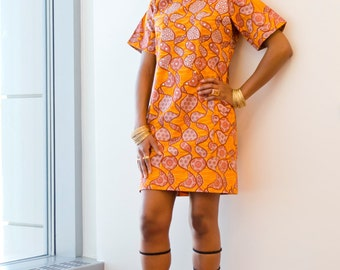 Ondo Ankara African Print Shift Dress