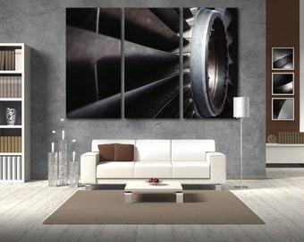 Turbine Wall Art Multi Panels Set Engine Wall Art Plane Canvas Art Aircraft Wall Art Air Turbine Print Poster Jets Turbine Wall Decor