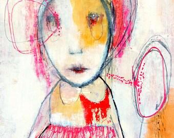 "Original Painting , Mixed Media, Acrylic Painting by Christina Romeo ""Mable Sins"""