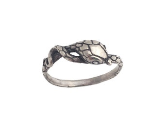 Snake Ring     silver gold serpent jewelry solo