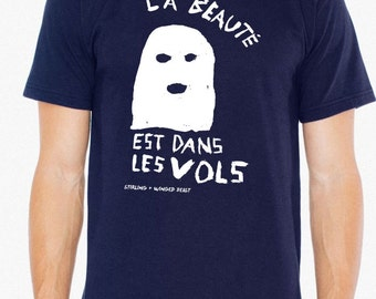 La Beauté Est Dans Les Vols (the beauty is in the theft or flight) - Men's T-shirt