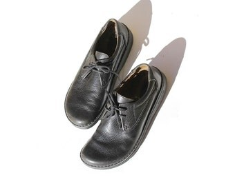 Size: 11 Men's Black Leather Birkenstock Oxford Shoes