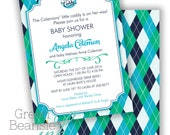PREPPY GOLF Birthday Printable Party Invitation or Baby Shower Printing Available