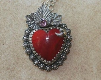 Rosearita Milagro Heart Necklace