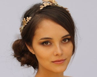 Two Piece Comb Crown in Gold, Rose Gold or Silver- The Justine